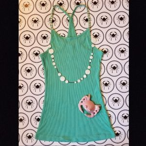 Tops - JEWELED SEAFOAM TANK